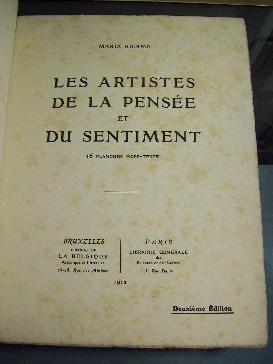 Adp Les Artistes De La Pensee Et Du Sentiment M Bierme 75000