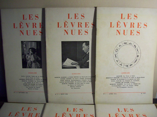 adp les levres nues ( n° 1 a 8 ) abril 1954 - mayo 1956