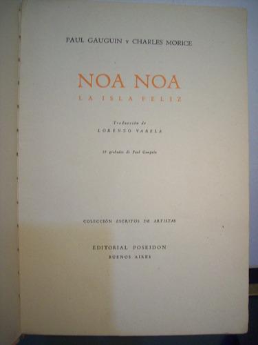 adp noa noa la isla feliz gauguin y morice / ed poseidon