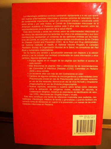 adp red book enfermedades infecciosas en pediatria / 26 ed