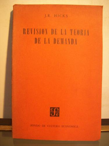 adp revision de la teoria de la demanda hicks / 1958