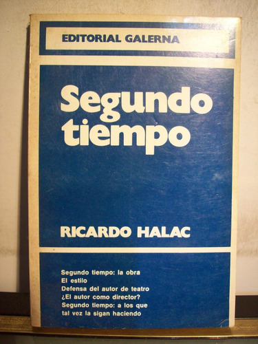 adp segundo tiempo ricardo halac / ed galerna 1978 bs. as.