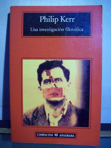adp una investigacion filosofica philip kerr / ed anagrama