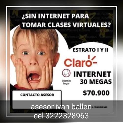 adquiere tu servicio hogar de claro y cuentas de netflix
