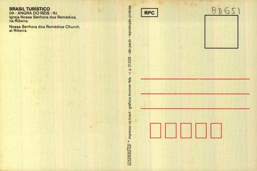 adr-11191 - postal angra dos reis, r j - igreja n. s dos rem