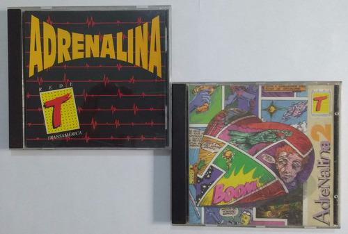 adrenalina 1 e 2 - coletâneas rede transamérica cd raro