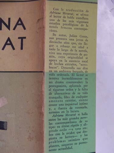 adriana mesurat julien green suramericana