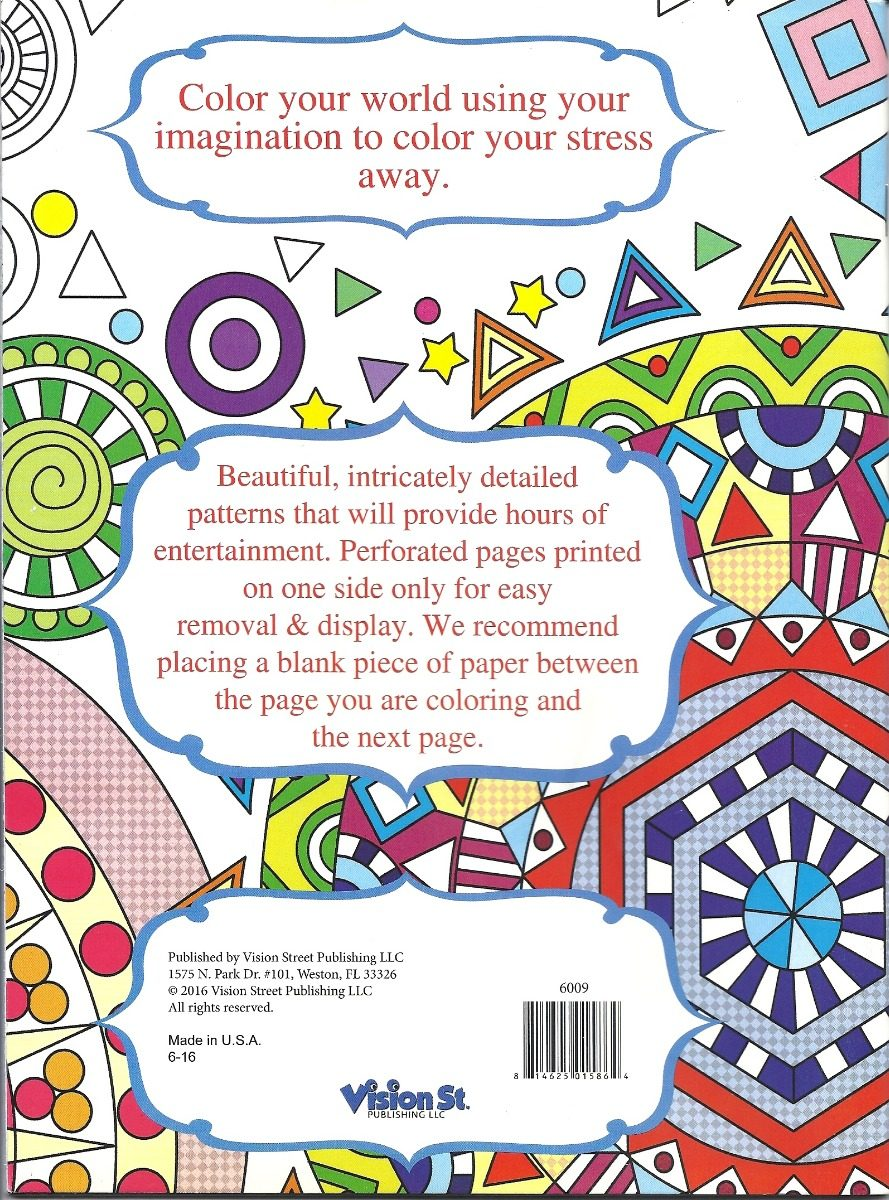Adult Coloring Book - Libro Para Colorear Formas Geométricas - $ 450 ...