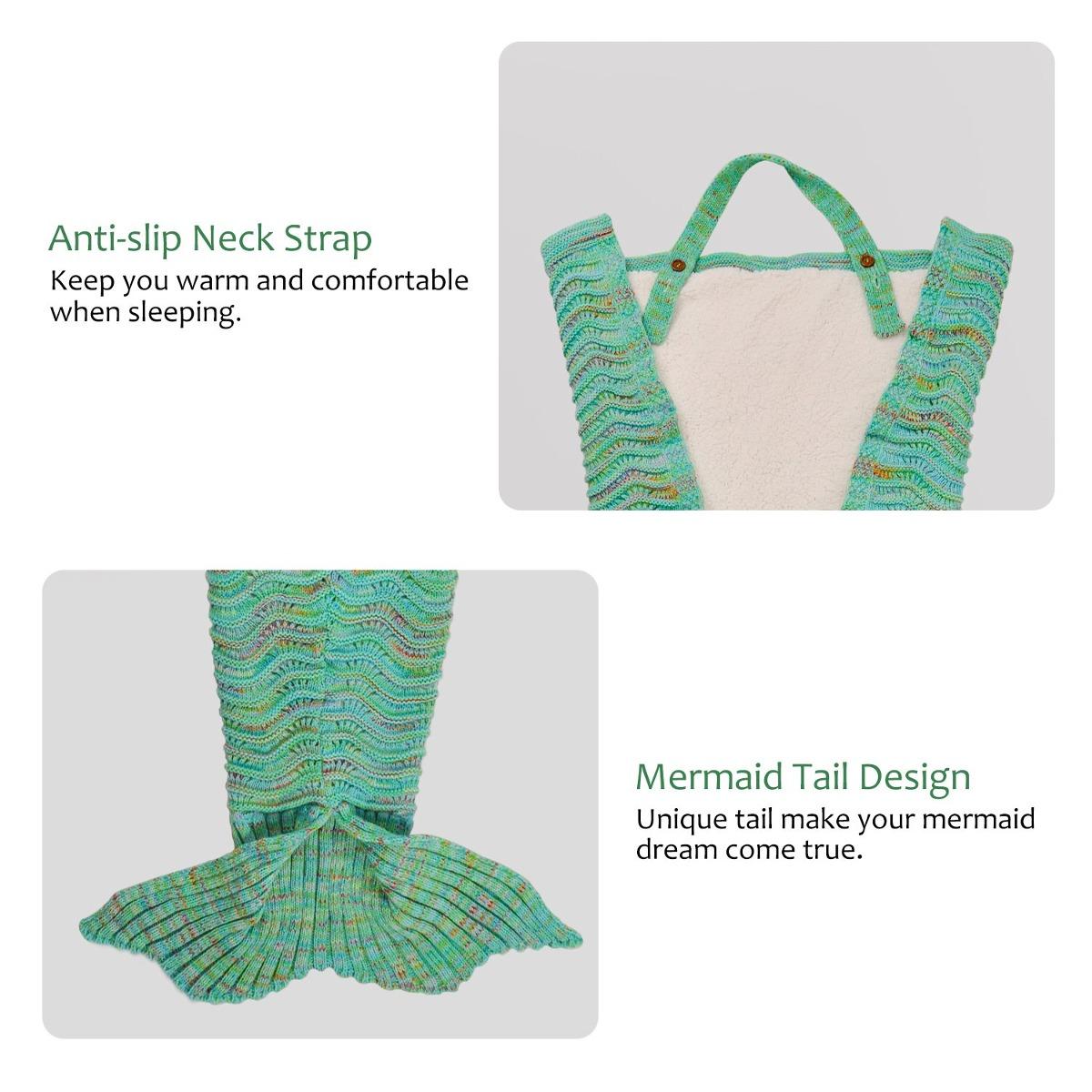 Adult Mermaid Tail Blanket Super Suave Crochet Mermaid Ma ...
