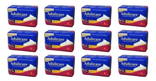 adultcare protetor descartável de colchão g c/5 (kit c/12)