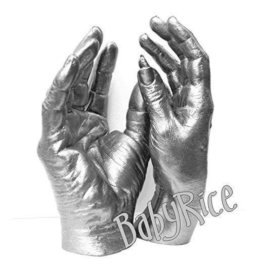 Adulto 3d Handprint Hand Cast Life Casting Kit, Pelwter - Bo
