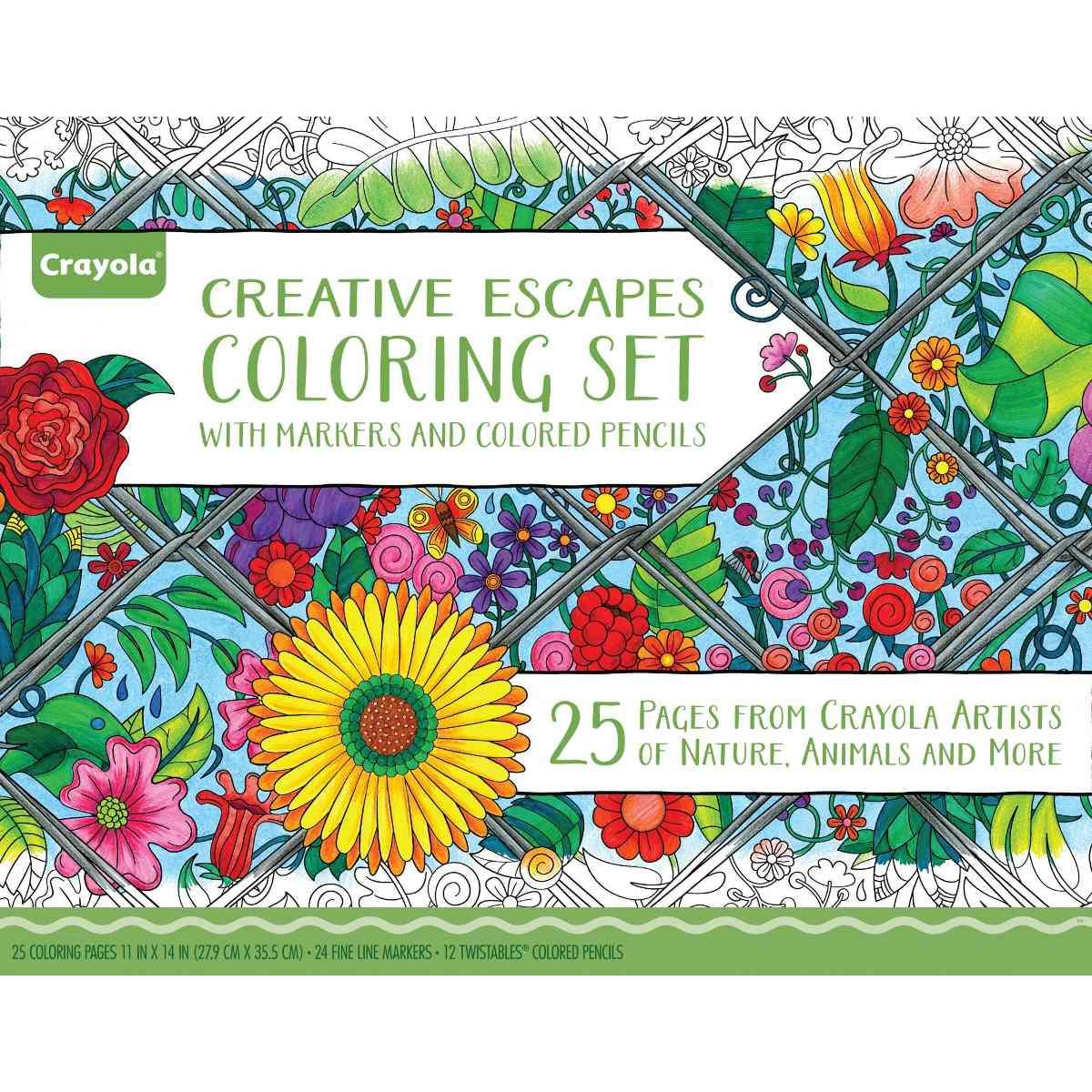 Adulto De Crayola Para Colorear Set De Regalo Grande - $ 145.111 en ...
