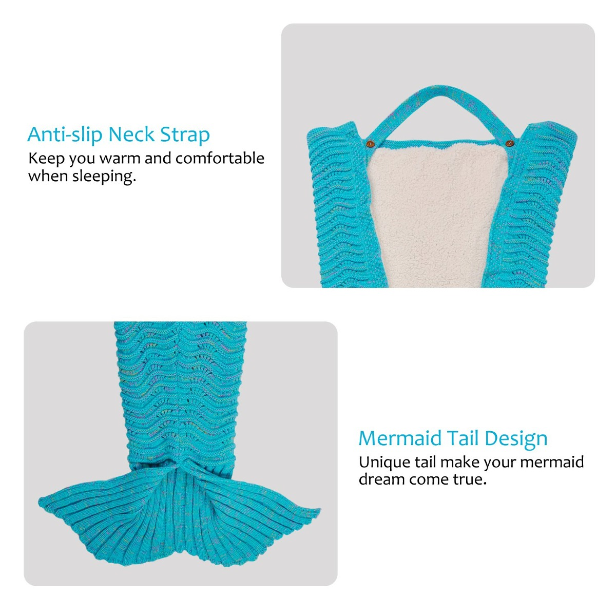 Adultos Mermaid Tail Blanket Sherpa Para Adolescentes Chi ...