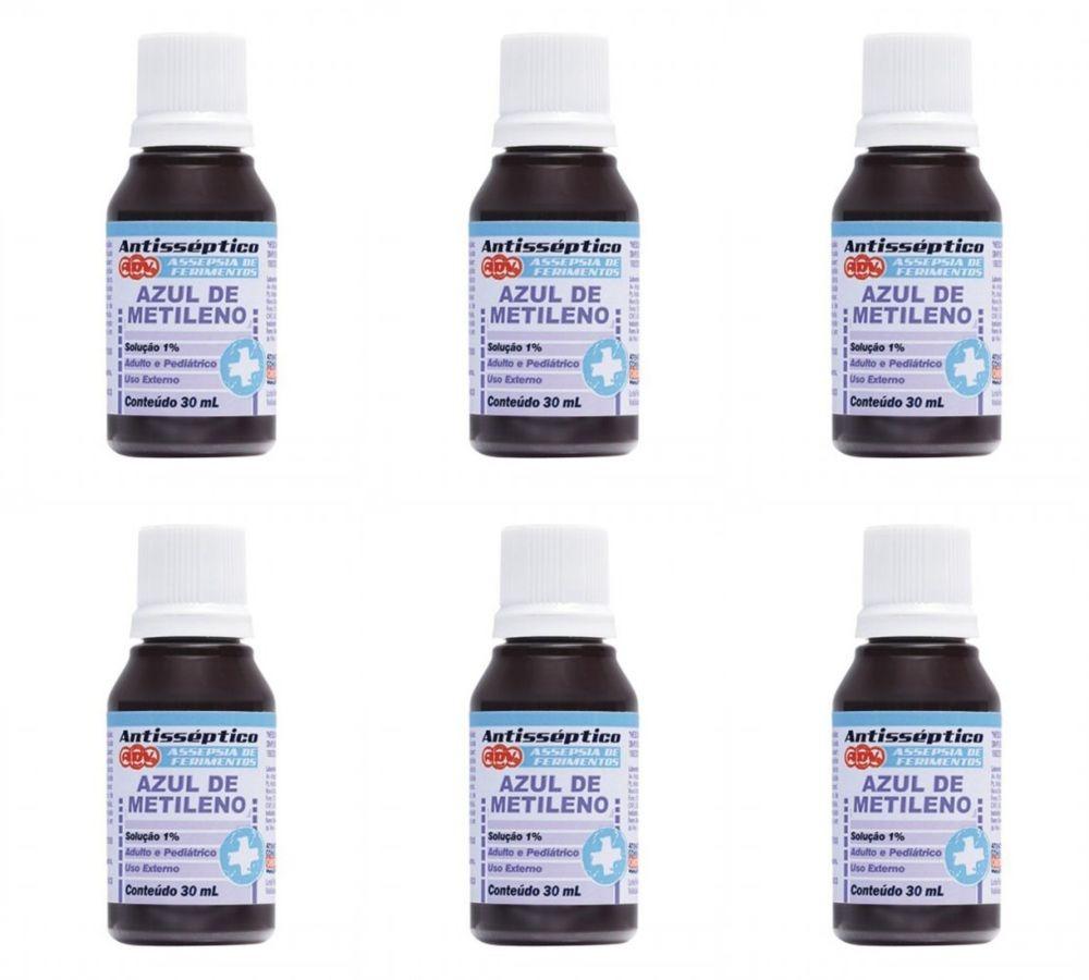 0a0fd4c58 Adv Azul De Metileno 30ml (kit C/06) - R$ 52,64 em Mercado Livre
