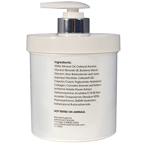 advanced clinicals collagen skin rescue lotion - hidrata, h