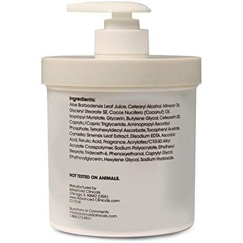 advanced clinicals vitamina c 16oz cream crema brightening