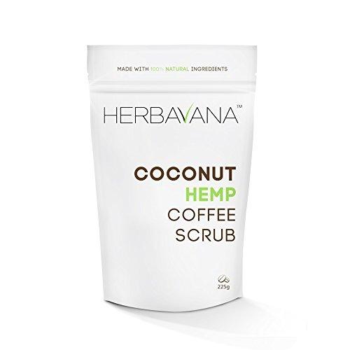 advanced organic coconut hemp coffee scrub with dead sea sal
