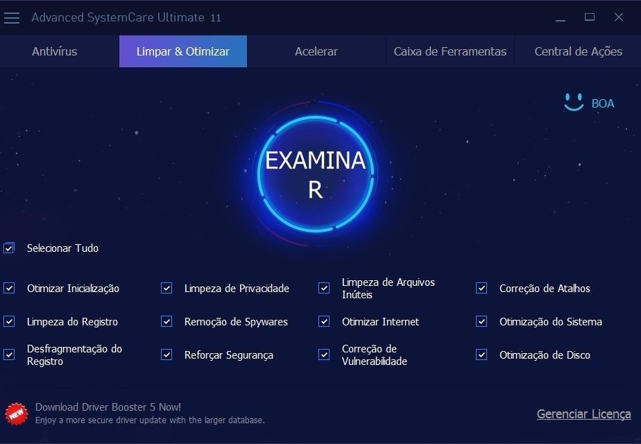 Advanced Systemcare Ultimate Pro - Otimizador E Antivirus