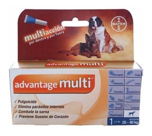 advantage multi pipeta antipulgas perros 25-40 kg bayer