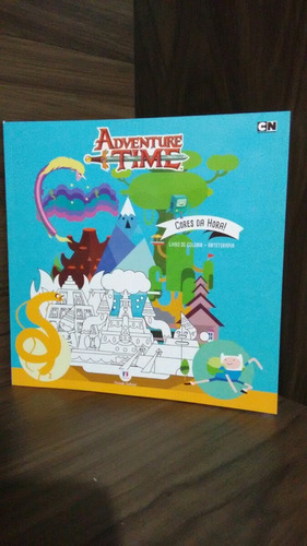 adventure time - cores da hora ! livro de colorir arterapia