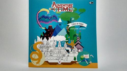 adventure time - livro para colorir de 19,90 por 14,90