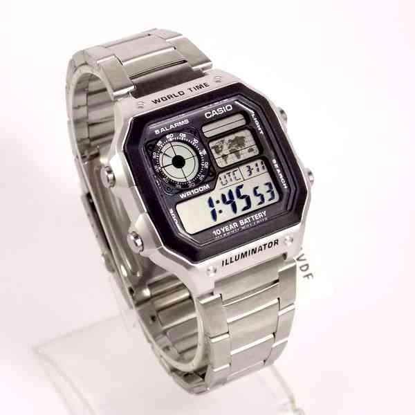 8c799806dc6 Ae-1200whd-1a Relógio Casio World Time Map Wr100 Autêntico - R  255 ...