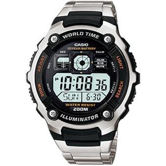 ae-2000wd-1avdf - reloj casio digital metalico illuminator