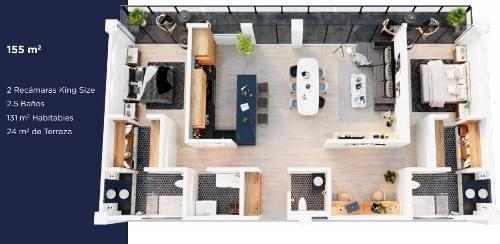 ae -  departamento en venta. la vista residencial. queretaro. rdv200222-ae