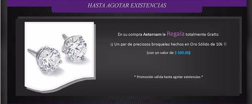 ae promocion anillo délicat oro 10k broqueles estuche regalo