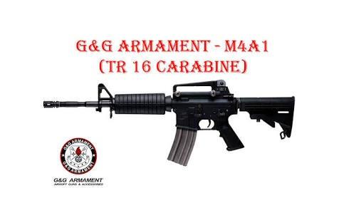aeg m4a1 g&g tr16 full metal com magazine high cap de metal