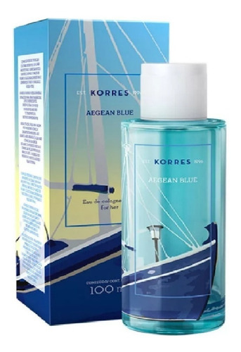 aegean blue korres - perfume feminino eau de cologne 100ml