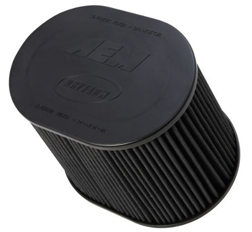 aem 21-2259bf universal dryflow clamp- en aire filter: oval