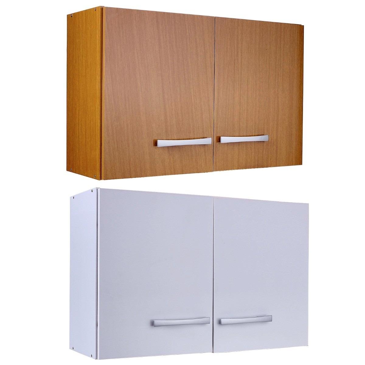 Aereo 2 puertas con estante calidad superior armado gratis for Muebles madera montevideo