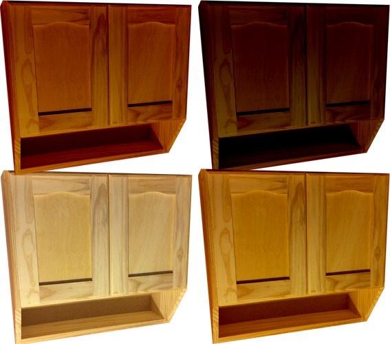 Mueble de cocina aereo 3 puertas alacena madera for Muebles madera montevideo