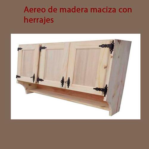 aereo de madera maciza con herrajes