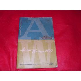 Aero Willys 2600 Manual Do Proprietario Original