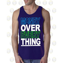 Camisilla Hombre Esqueleto Algodon Gym - Money Over Every...
