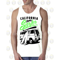 Camisilla Hombre Esqueleto 100% Algodon Ref: California Surf