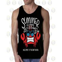 Camisilla Hombre Tipo Esqueleto 100% Algodon Summer Surf