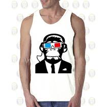 Camisilla Hombre Esqueleto 100% Algodon Diseño : Monkey 3d