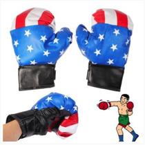 Guantes De Boxeo De Cuero Sintético De La Bandera Americana