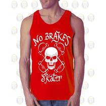 Camisilla Hombre Esqueleto 100% Algodon Diseño Skull Skater
