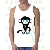 Camisilla Hombre Esqueleto 100% Algodon Diseño : Monkey