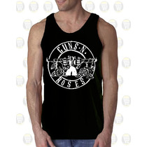 Camisilla Hombre Esqueleto 100% Algodon Gym - Guns N Roses
