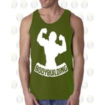 Camisilla Hombre Esqueleto Algodon Gym - Gimnasio Fitness