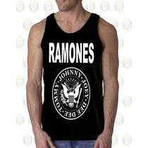 Camisilla Hombre Esqueleto 100% Algodon Gym - Los Ramones