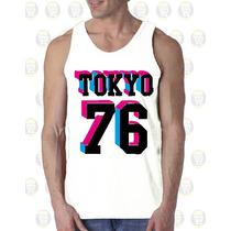 Camisilla Hombre Esqueleto Algodon Gym - Tokyo 76