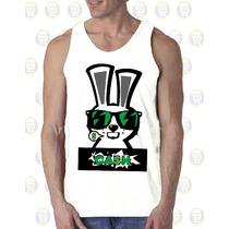 Camisilla Hombre Esqueleto Algodon Diseño Conejo Bunny Cash