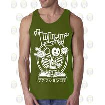 Camisilla Hombre Esqueleto 100% Algodon Basket Ball Japon
