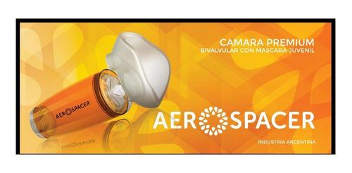 aerocamara aerospacer juvenil tipo aerochamber - naranja